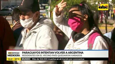 Paraguayos intentan volver a la Argentina