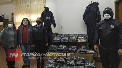 POLICÍA DE ITAPÚA RECEPCIONÓ EQUIPOS DE BIOSEGURIDAD