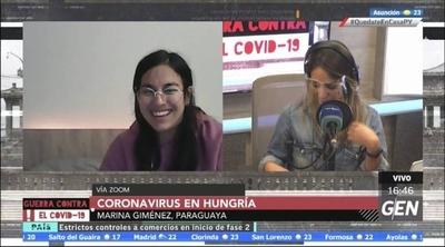 HOY / Marina Giménez, estudiante paraguaya en Hungría, nos comenta sobre la situación actual de Hungría frente al Covid-19