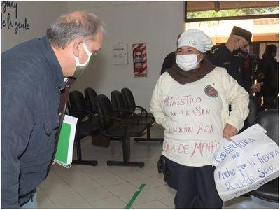 Protestan frente a la SEN y exigen alimentos para ollas populares
