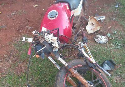 Hombre sufre lesiones en accidente