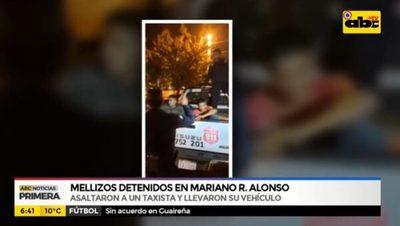 Detienen a mellizos que asaltaron a un taxista en Mariano