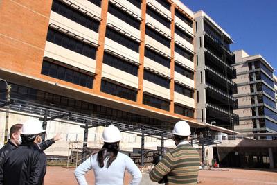 Nuevo edificio del Palacio de Justicia en etapa final de construcción