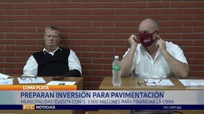 INVERTIRÁN UNOS 3.500  MILLONES DE GUARANÍES EN PAVIMENTACIÓN DE CALLES EN LOMA PLATA