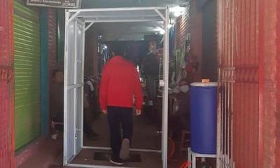 """Túneles de desinfección """"no recomendadas"""" por el MSPyBS son instaladas en el mercado municipal – Prensa 5"""