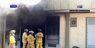 Subestática arde en Santa Rosa del Aguaray