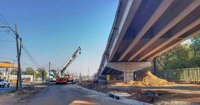 Obras de viaducto en zona del Botánico registran avance del 70%