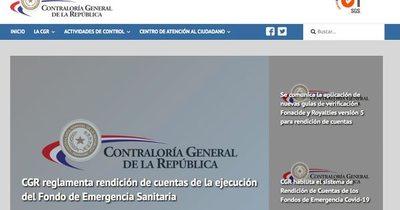Contraloría publicará rendición de cuentas de estatales desde mañana