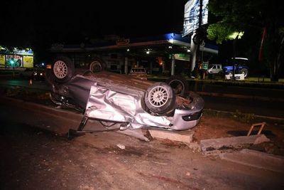 Accidente con derivación fatal en Fernando de la Mora