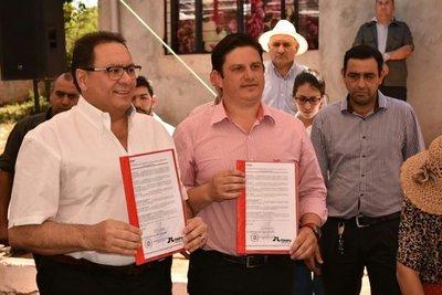 Inauguran asfaltados de Itaipú en J. E. Estigarribia