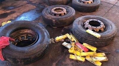 Camión que partió de Santa Rita cae con 600 kilos de marihuana en Brasil