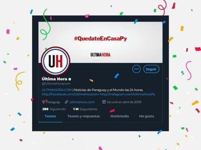 Última Hora, el primer medio del país en llegar al millón de seguidores en Twitter