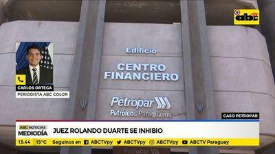 Caso Petropar: Juez Rolando Duarte se inhibió