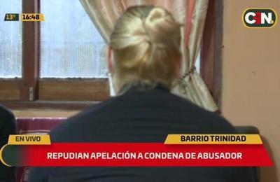 Repudian apelación a condena de abusador en el barrio Trinidad