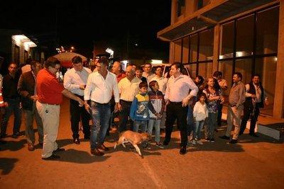 Inauguración de obra sobre Enfermera del Chaco