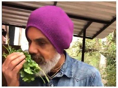 Leo Rubín afirma que las verduras de su huerta son deliciosas