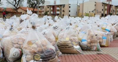 Segunda entrega de mil kits de alimentos en el barrio San Francisco