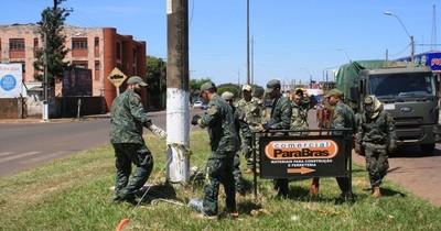 Llegan más militares a Pedro Juan para evitar ingreso de brasileños