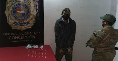 Detienen a supuesto vendedor de crack en Concepción
