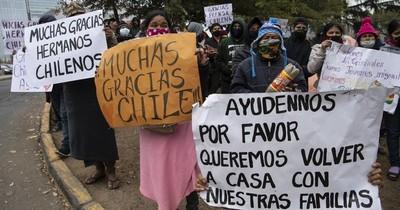 Latinoamericanos varados en Chile suplican repatriación