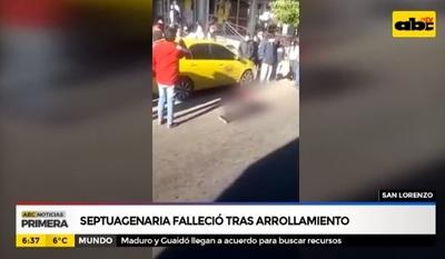 Anciana fallece tras ser arrollada por bus en San Lorenzo