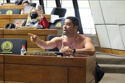 Diputado se desnuda en plena sesión