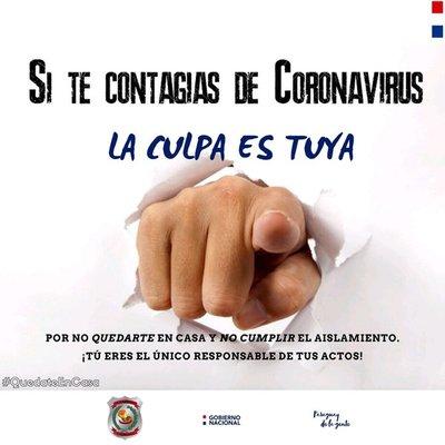 """La Policía Nacional explica: """"si te contagias es tu culpa"""""""