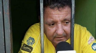 Empresario preso por explotar sexualmente a jugadores, triste con desdén de ídolo de Olimpia Antonio González, exdirigente de Rubio Ñu de Luque.