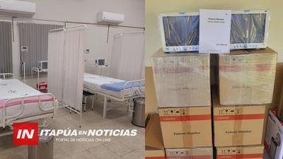 ENTREGAN EQUIPOS HOSPITALARIOS AL CENTRO DE SALUD DE CARMEN DEL PNÁ