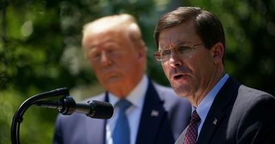 Jefe de Defensa de EEUU se opone al despliegue de militares para frenar protestas