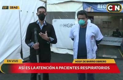 Aumentan consultas por cuadros respiratorios en el Hospital de Barrio Obrero