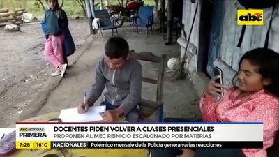 Docentes de Alto Paraguay piden volver a clases presenciales