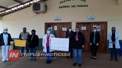 PARO EN SERVICIOS DEL CENTRO DE SALUD DE CARMEN DEL PARANÁ POR FALTA DE PAGO DE SALARIOS.