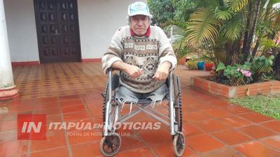 ENFERMO, CON DISCAPACIDAD Y EN  SOLEDAD VIVE DE LA CARIDAD DE LOS VECINOS