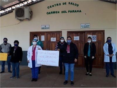 Funcionarios del Centro de Salud de Carmen del Paraná, en paro