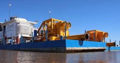 Defensa costera: dragas llegan a Pilar para inicio de obras