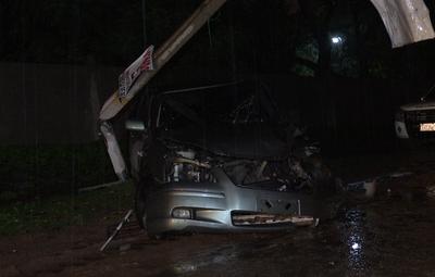 Accidente de tránsito en San Lorenzo deja sin luz a un barrio entero