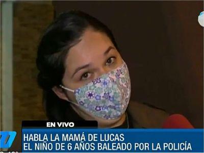 """""""Les perdono de corazón a los policías"""", dice madre de niño baleado"""