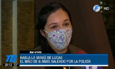 Madre de niño baleado asegura que perdonó a los policías