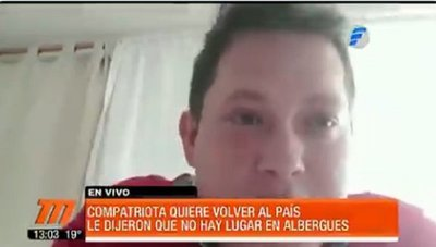 Compatriota denuncia que lo dejaron de lado por no poder pagar albergue
