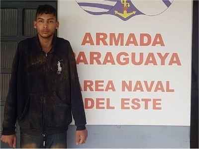 Brasileño es detenido cuando ingresaba al país por el río Paraná