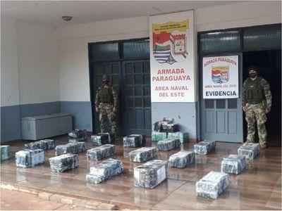 Incautan casi 500 kilos de marihuana listos para ir al Brasil