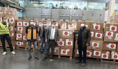 HOY / Mientras el Ministerio se rebusca por insumos, Turquía hace donación