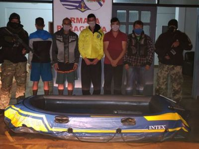 Grupo cae detenido tras intentar cruzar el Paraná en un bote inflable
