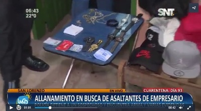Detienen a presunto cabecilla de un asalto ocurrido el pasado 3 de junio en San Lorenzo