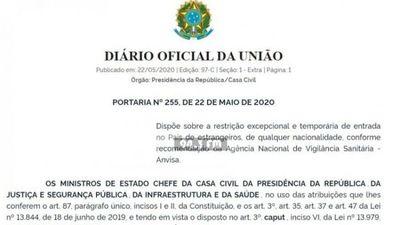 Brasil cierra sus fronteras