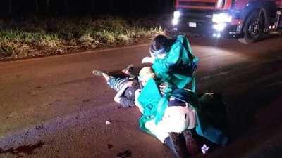 Choque frontal entre motos deja deja un muerto y un herido grave