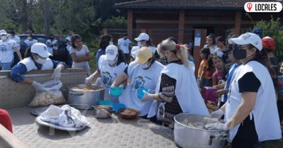 Funcionarios de la Diócesis de Encarnación brindaron almuerzo para 250 personas