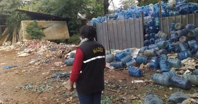 Mades interviene recicladora de Luque por mal manejo de residuos