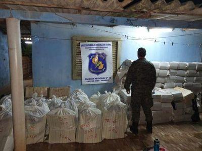 Incautan casi 4.000 kilos de marihuana en Capitán Bado